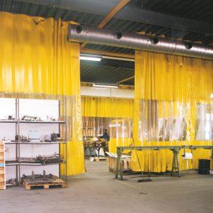 Flexibel Industriegordijn Geel