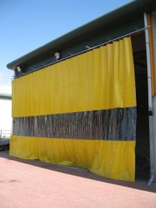 Afscherming tegen vocht in kleur, met of zonder zichtvenster uit gordijn materiaal